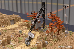 My post-apoc landscape module (48x128 including the comm tower) at Klossfestivalen 2015 (Jonas Wide ('Gideon')) Tags: lego apocalego klossfestivalen