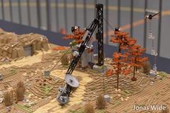 My post-apoc landscape module (48x128 including the comm tower) at Klossfestivalen 2015 (Jonas Wide ('Gideon')) Tags: lego apocalego klossfestivalen