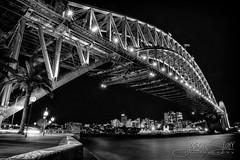 Harbour Bridge (jasoncstarr) Tags: bw monochrome canon eos blackwhite sydney australian australia circularquay wharf sydneyoperahouse sydneyharbourbridge 6d canoneos6d