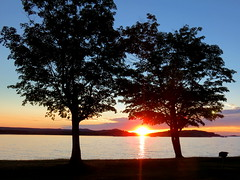 Lake Superior sunset--Explored! (yooperann) Tags: park sunset lake island michigan superior upper peninsula isle marquette presque