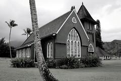 Copy of Kauai b&w53 (chiarina2016) Tags: kauai hawaii island beach monotone blackandwhite chiarinaloggia stormyseas waves trails hiking surf church hanalei hanaleichurch