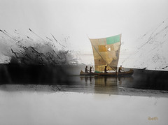 Ulises (ibethmuttis) Tags: boat ulises sea china ink