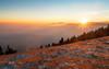 Joy (Dejan Hudoletnjak) Tags: landscape mountains sunset sun fog clear warm