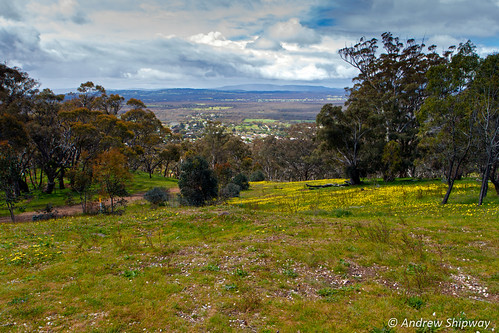 View over Maldon from Mount Tarrengower, Victoria.