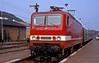 243 870  Sassnitz  30.08.90 (w. + h. brutzer) Tags: sassnitz eisenbahn eisenbahnen train trains deutschland germany railway elok eloks lokomotive locomotive zug db dr 143 243 webru analog nikon