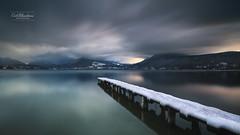 Fin de journée (cedric.chiodini) Tags: le longexposure poselongue paysage landscape canon ponton eau water lac lake