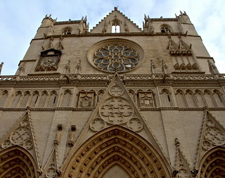 The finaly worked facade of Cathedral Saint-Jean