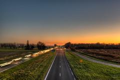 The long road to Enlightenment. (Alex-de-Haas) Tags: 1635mm d750 dutch grebpolder hdr holland hollandseluchten nweg n245 nederland nederlands netherlands nikkor nikkor1635mm nikon nikond750 noordholland schagerweg warmenhuizen avond beautiful calmweather clearsky daglicht daylight evening flat hemel highdynamicrange landscape landschap licht lichtsporen light lighttraces longexposure lucht mooi onbewolkt polder road skies sky sunset traces vlak weather weer weg winter winteravond zonsondergang