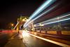 Tower Bridge play (jasonhudson2) Tags: light tower bridge london night cityscape bus traffic trails shard sony