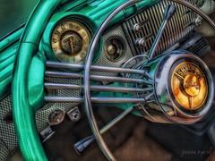 Sunday Drive: Take the Wheel (joannemariol) Tags: iphone6 snapseed icolorama dashboard steeringwheel classiccar classiccarphotography vintage vintageauto retro buick skylark buickskylark