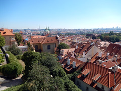 View of Prague from Ke Hradu, 2016 Aug 27 (Dunnock_D) Tags: czechia czechrepublic prague blue sky houses city malástrana lessertown