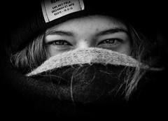 Mysterious Eyes (mripp) Tags: eyes face portrait gesicht black white mono monochrom art kunst people leica m9 summilux 50mm