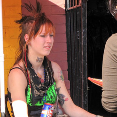 2009 - 09 - 19 - Pale Lady Drinking a Pale Ale (Mississippi Snopes) Tags: hstreetfestival pale ale spiky tattoos lady woman
