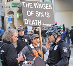 The Wages of Sin is Death (sea turtle) Tags: christian religious religion fundamentalist fundamentalism clueless seattle march women womxn woman womensmarch womxnsmarch seattlewomensmarch seattlewomxnsmarch protest demonstration politics political 4thavenue civilrights equalrights justice equality love fairness lovetrumpshate hillaryclinton donaldtrump liberty sign crowd city downtown