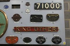 20160510 028 NRM York. SR Nameplate 30737 'KING UTHER'. Wagon Plate BR 25T Hopper B439308 BR 16T Mineral B222376 (15038) Tags: railways trains br britishrail railwayana nrmyork steam locomotive nameplate kinguther 71000 wagon goods freight wagonplate 222376 439308 nrmobjectnumber{19878534} nrmobjectnumber{19858235} nrmobjectnumber{19878533}