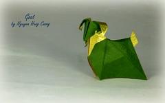 Goat by Nguyen Hung Cuong (Thomas Krapf Origami) Tags: goat ziege origami paper paperfolding papierfalten deluxe washi nguyen hung cuong