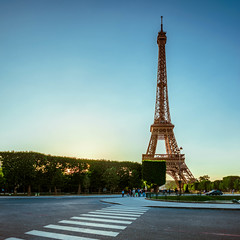 La Tour (pauses) Tags: road street trip travel summer vacation paris france tower love architecture studio square nikon europe ledefrance tour weekend wideangle landmark eiffel friday crosswalk tgif fr d800 fewpeople 2015 onecar colourimage