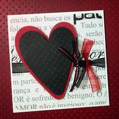 Carto Noivado (Projetos em Papis :: BH :: Brasil) Tags: love scrapbooking heart amor card amour corao scrap noivado carto delicadeza