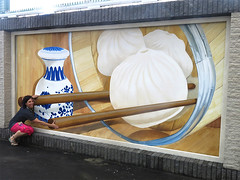 BMacau_Bao_TLStum (Tracy Lee Stum) Tags: china streetart animals hongkong mural dragon lotus grandprix illusion macau stpaulscathedral dragonboat giantpanda liondance bao tracyleestum culturalexchange 3dstreetart team3d anamorphicart 3dartist 3dstreetpainting prpromotion drunkendragondance