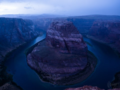 Horseshoe Bend (Kenny Hindgren) Tags: blue sunset arizona usa water night river bend roadtrip hour horseshoe kenny 2015 hindgren jacksontillneworleans
