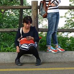 Phone Check (Mondmann) Tags: woman women asia cellphone korea smartphone seoul southkorea rok namsan eastasia republicofkorea checkingemail mondmann canonpowershots120