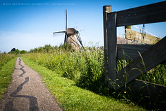 Path to a windmill (josefrancisco.salgado) Tags: holland netherlands windmill fence nikon europa europe cerca nikkor kinderdijk d4 molinodeviento 2470mmf28g lospasesbajos