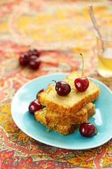 Gateau de semoule et yaourt (Un dejeuner de soleil) Tags: food cake recipe dessert yogurt eastern semolina recette foodphotography undejeunerdesoleil