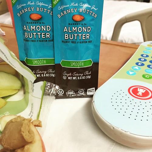 food snack protein healthyfood healthysnack travelgear almondbutter barneybutter