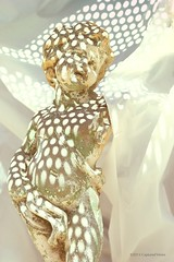 Summer Heat (captured views - on and off throughout the summer) Tags: summer contrast outdoors patterns statues sunny cherub summertime statuary cherubs summerheat gardenstatuary gardenstatues hotdays intheheatoftheday capturedviews capturedviewsphotography rhythmandlight statuesinsoftlight