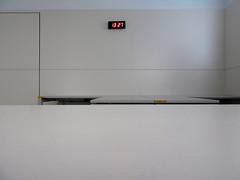 the moment of truth # 1 (maximorgana) Tags: clock wall digital hospital table counter minimal
