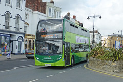 GA SV 1596 - HF64BSX - NSF - RYDE BUS STN - TUE 4TH AUG 2015 (Bexleybus) Tags: bus station coast south 9 route southern 400 vectis dennis isle wight enviro ryde adl 1596 goahead of hf64bsx
