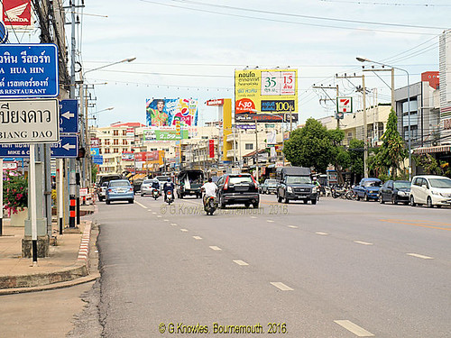 The Main road into Hua Hin in 2010, Prachup Khiri Khan Province, Thailand.
