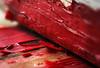 Cracked Corner (johnsinclair8888) Tags: macro macromondays art red wood peelingpaint paint old nikon sigma 105mm corner corners focus dof stackedfocus affinityphoto