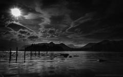 Derwent Water (Richard Walker Photography) Tags: bw beautiful blackandwhite clouds cumbria derwentwater em1 keswick lakedistrict lake landscape landscapephotography water