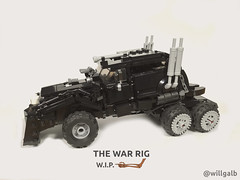 War Rig WIP (willgalb) Tags: lego moc car truck war rig mad max fury road mel gibson tom hardy immortan joe imperator furiosa post apocalypse wasteland