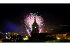 Fireworks by Martí (Spain) during the Great Week of Bilbao 2016 (Iker Merodio | Photography) Tags: fireworks marti spain su artifizialak pentax k50 bilbao bizkaia biscay basque country sigma 30mm art basilica basilika begona night