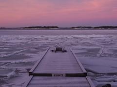 Pinky glow (Jarno Nurminen) Tags: cold frozen seascape sea winter finland helsinki lauttasaari earlybird sunrise morning pier jetty glow