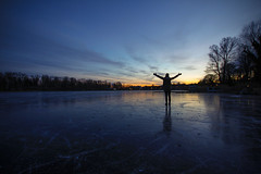 Freedom (CoolMcFlash) Tags: ice frozen winter cold person woman standing freedom landscape altedonau danube water silhouette sky canon eos 60d sigma 1020mm kaisermühlen vienna austria weather eis gefroren kalt frau stehen freiheit alone alleine landschaft wasser kontur himmel wien österreich wetter fotografie photography 35 sunset sundown light licht reflection spiegelung abend evening twilight dusk nature natur
