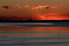 (.....) (luporosso) Tags: tramonto sunset mare sea colors colori laguna vento venezia adriatico nuvole clouds