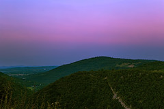 soundless deep (PokemonaDeChroma) Tags: landscape croatia plitvice nature bluehour hills path trekking hiking summer july 2016 sky mountain green blue cyan pink magenta holiday scenic