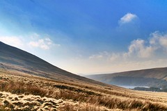 We had some blue sky too (explored 4.2.17) (AngharadW) Tags: hills road cwmwl grass angharadw cymru water wales cloud a470 lake outdoor hill sky mountain landscape nationaltrust breconbeacons
