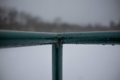 Railing (William Do Quoc) Tags: sparkler timberland sky freeze red sony ice window house icicle rust coin canon winter prague