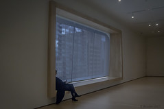 Time Out (Greatest Paka Photography) Tags: sfmoma sanfrancisco museum museumofmodernart break timeout relax window alone people