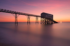 The Last Hurrah (Langstone Joe) Tags: selseybill selsey sussex lifeboatstation sunrise longexposure reflections firecrest8stopndfilter