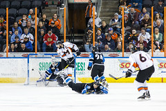 "Missouri Mavericks vs. Wichita Thunder, January 6, 2017, Silverstein Eye Centers Arena, Independence, Missouri.  Photo: John Howe / Howe Creative Photography • <a style=""font-size:0.8em;"" href=""http://www.flickr.com/photos/134016632@N02/32080939032/"" target=""_blank"">View on Flickr</a>"
