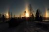 Three suns_2017_01_06_0003 (FarmerJohnn) Tags: aurinko sun threesuns sundocks auringonpilarit pilar pilari sunrise halo frost frostintheair reflection rainbow colors haloilmiö kolmeaurinkoa noon keskipäivä bright sunlight auringonvalo valo light heijastus talvi winter snow lake frozen jää järvi lumi lumihanki blue sininen taivas sky bluesky canon 7d canoneos7d canonef163528liiusm juhanianttonen finland laukaa valkola anttospohja
