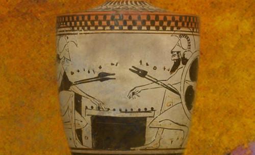 "Petteia - Ludus Latrunculorum  / Iconografía de las civilizaciones helenolatinas • <a style=""font-size:0.8em;"" href=""http://www.flickr.com/photos/30735181@N00/32143106480/"" target=""_blank"">View on Flickr</a>"
