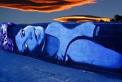 red sky at night sailors delight (johnsinclair8888) Tags: streetart wall lady sky clouds nikon tamron 2470 art blue street mural lasvegas johndavis artdistrict sliderssunday