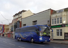 BJ16KXX Shearings 844 on the move along Blackpool Promenade (j.a.sanderson) Tags: shearings 844 move along blackpool promenade bj16kxx mercedes benz tourismo 2016