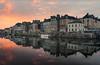 Sunset in REDON -35- (Explore 10/01/17) (f.ray35) Tags: rouge redon ille et vilaine bretagne brittany reflet urbain architecture boat sunset light orange fleuve sky clouds sun water romuald effray wow